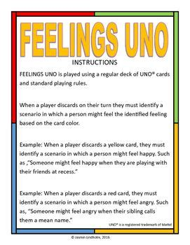 feelings uno  images adolescent therapy