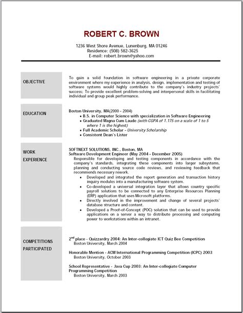 carpenter sle resume objective sle driver resume doc