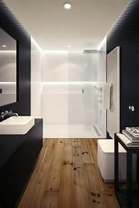 Bad Mit Holzfliesen : 52 fotos von badezimmer in schwarz und wei ~ Bigdaddyawards.com Haus und Dekorationen