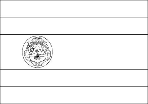 costa rica flag coloring page  kids flag coloring
