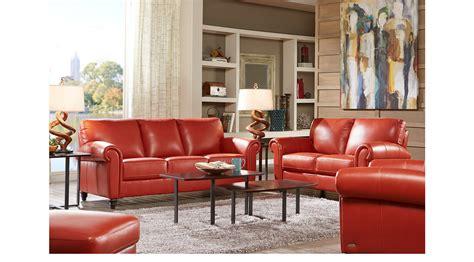 229999 Lusso Papaya Orange Red Leather 3 Pc