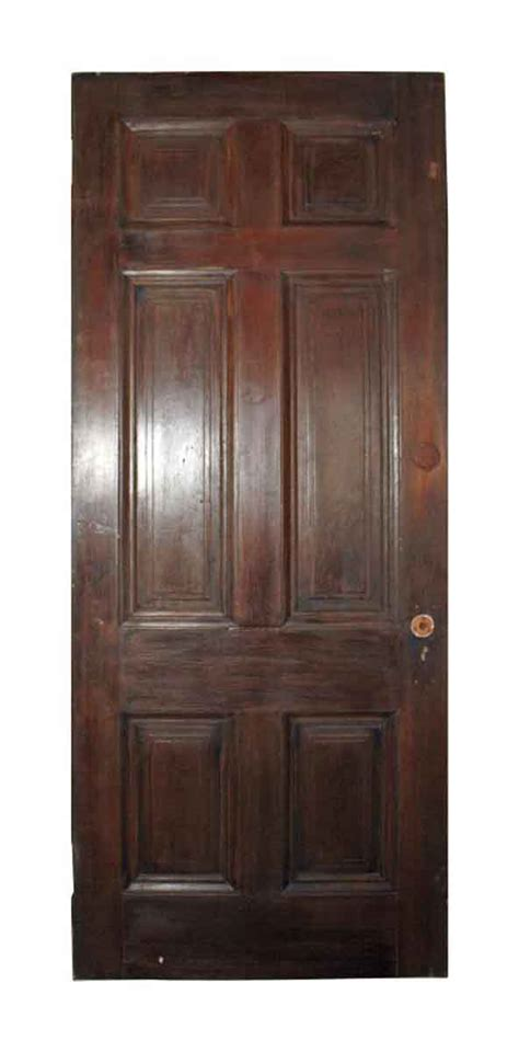 Six Vertical Raised Panel Wood Door  Olde Good Things