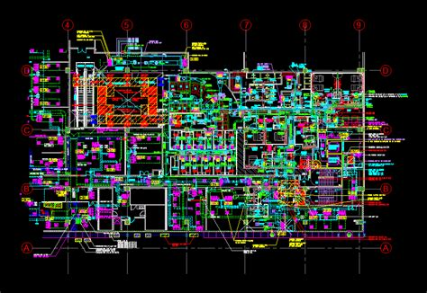 Hvac Drawing In Autocad hvac layout part plan dwg block for autocad designs cad