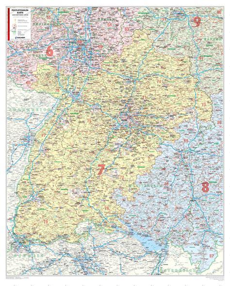 Baden Württemberg Plz Karte