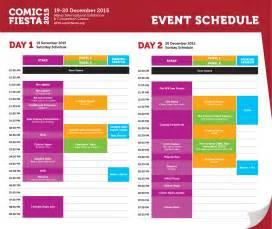 wedding schedule of events event schedule comic 2015