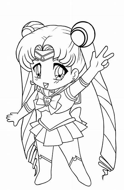Coloring Pages Chibi Printable Anime