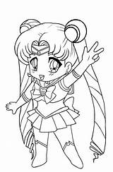Coloring Pages Chibi Printable sketch template
