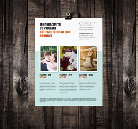 one page flyer template single page brochure template rumble design store