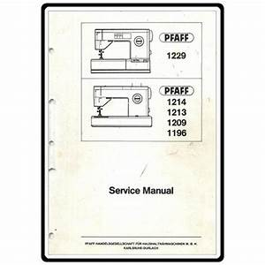 Service Manual  Pfaff 1222   Sewing Parts Online