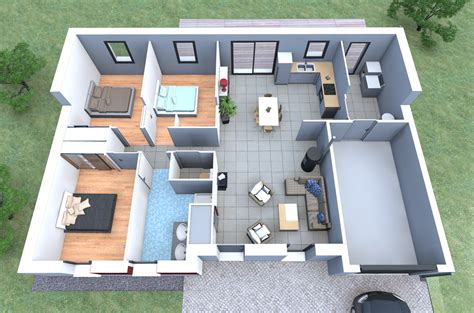 construction de maison 3d inspiration de plan de maison 3 chambres garage alliance construction maison