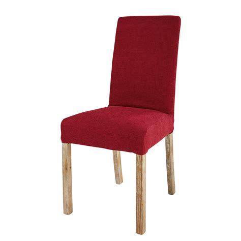 housse de chaise tissus housse de chaise en tissu bordeaux margaux maisons du monde