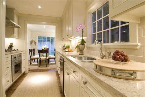 White Galley Kitchen-transitional-kitchen-cote De Texas