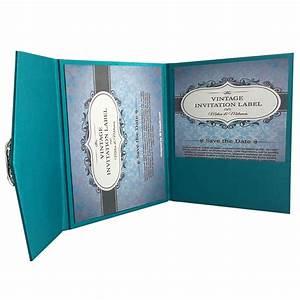light teal color luxury silk pocket fold design for With wedding invitation envelopes for sale