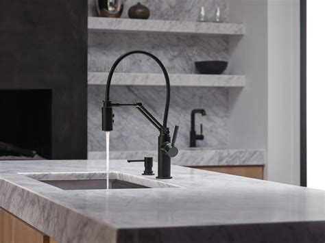Brizo Articulating Kitchen Faucet by A Kitchen Faucet That Works Hard And Looks Good Doing It