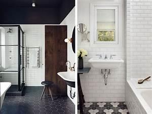 carrelage metro blanc pas cher ciabizcom With carrelage adhesif salle de bain avec lit a led noir