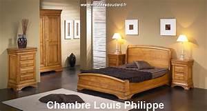 Meuble Chambre Adulte : chambre louis philippe en bois massif ~ Dode.kayakingforconservation.com Idées de Décoration