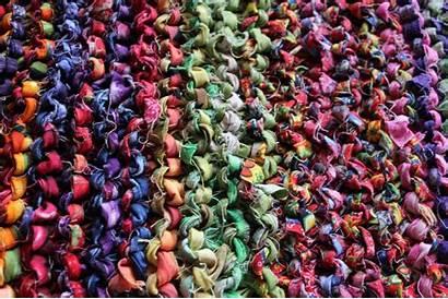 Fabric Knitted Rugs Yarn Rug Knit Mona