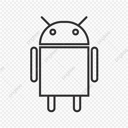 Android Icon Vector Line Authorization Upgrade Background