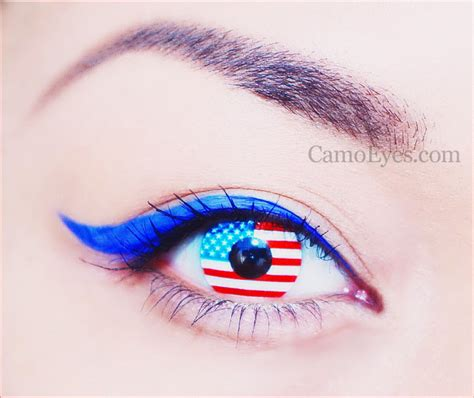 Halloween Contacts Non Prescription Zombie by American Flag Contacts Camoeyes Com