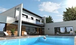 maison moderne sur mesure 44 56 85 depreux construction With superb plans de maison moderne 0 maison cubique jeu de volumes et couleurs vannes depreux