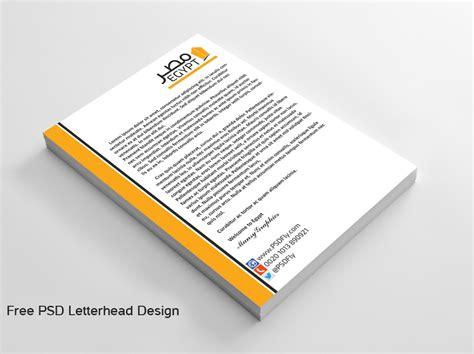 vector psd company letter head design template