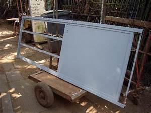 Porte Coulissante D Atelier Larg 83 Cm : porte vitr e m tal s paration pi ce ~ Nature-et-papiers.com Idées de Décoration