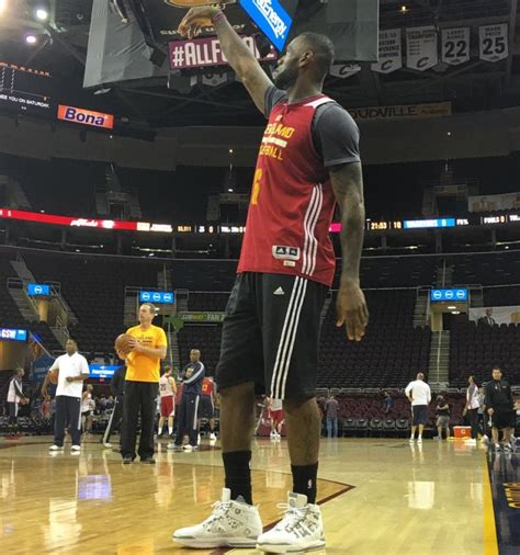 lebron james wearing lebron  finals practice sole collector