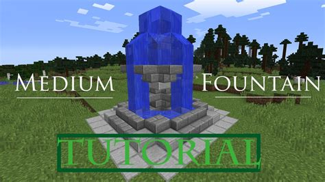 Minecraft How To Build A Fountain Tutorial Youtube