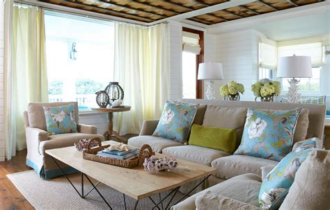 Beach Home Decor Ideas: Beach Escape. Living Room.