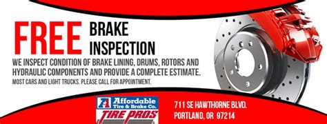 brake and l inspection free brake inspection