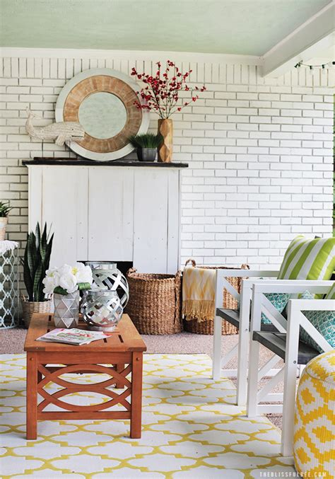 Back Porch Makeover THE BLISSFUL BEE
