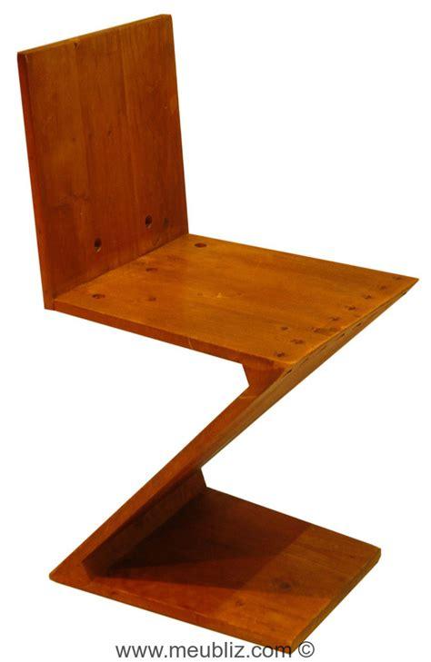 la chaise de rietveld chaise quot zig zag quot inspiration de stijl par gerrit
