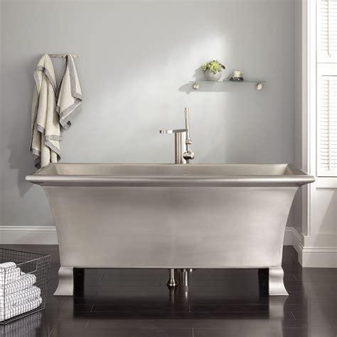 kendara rectangular stainless steel footed tub