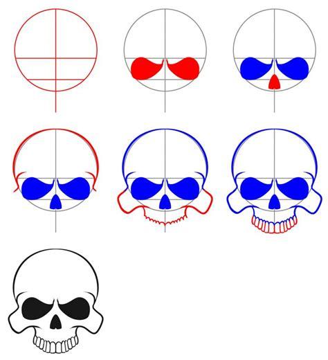 draw  easy skull skull art easy drawings drawings
