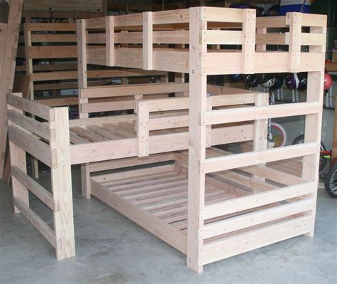 L Shaped Bunk Bed Plans by Wood Work L Shaped Bunk Bed Plans Pdf Plans