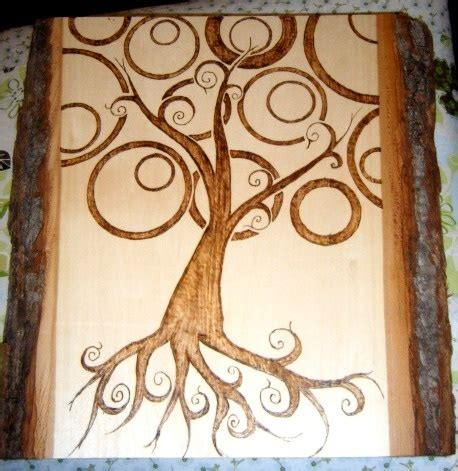 seahorse crafts for tree of pyrography by me wedding 5390