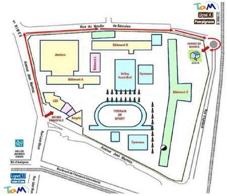 plan d 39 acces lycée mermoz montpellier plan d 39 accès