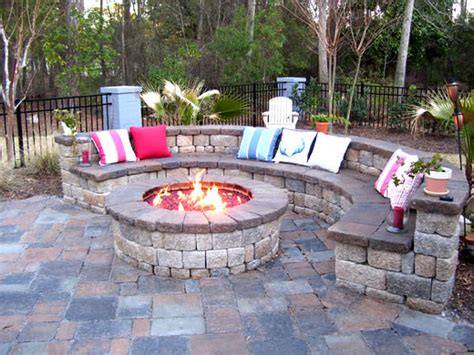 Backyard Fire Pit Fun Home Improvement Idea