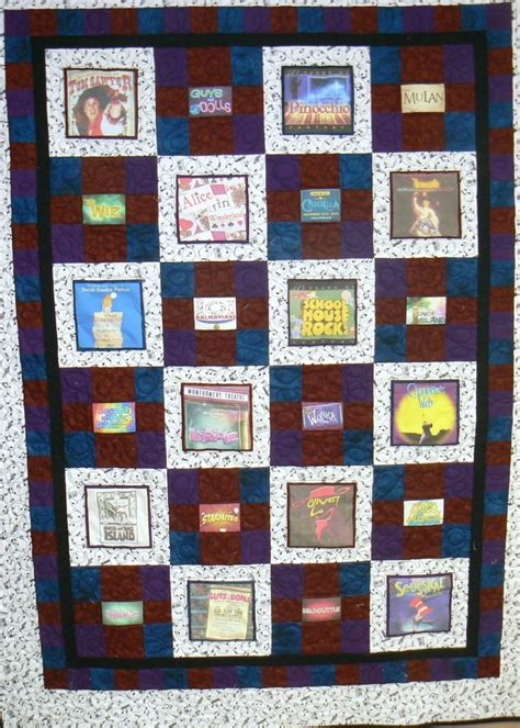 hand crafted custom photo memory quilt   young actor
