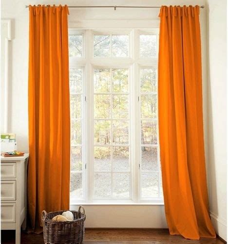 orange drapes modern curtains by carousel designs