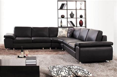 canape d angle cuir italien canap 233 d angle en cuir luxe italien 6 places biarritz noir mobilier priv 233