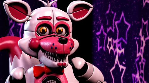 Foxy In Purple Stars Background Five Nights At Freddys