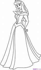 Coloring Pages Aurora Princess Disney sketch template