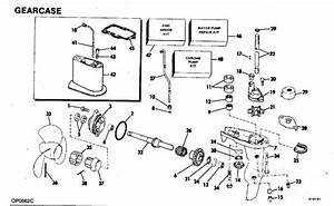Johnson Gearcase Parts For 1981 4hp J4brcic Outboard Motor