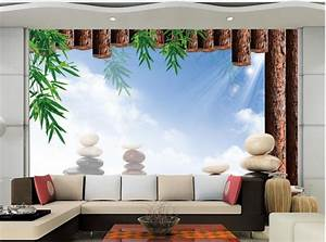 Aliexpress.com : Buy 3d mural designs Bamboo stone Living ...