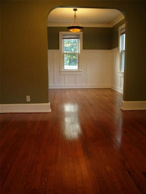 Minwax Floor Finish Colors by Minwax Gunstock Stained Oak Floors Stairs