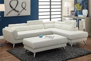 White Leather Sectional Sofa Steal A Sofa Furniture
