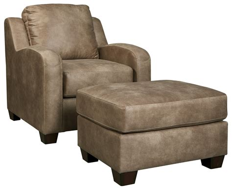 Ottoman Furniture by Benchcraft Alturo Contemporary Faux Leather Chair