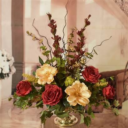 Flower Silk Elegant Roses Arrangements Floral Arrangement