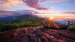Beautiful mountain sunset landscape